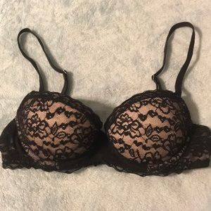 Aerie size 32B black lace push up bra